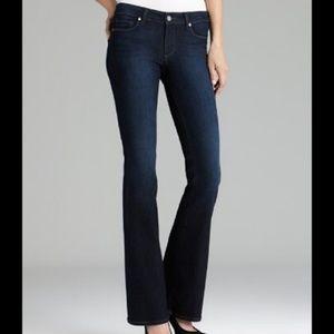 Paige Bel Air Classic Boot Cut Jeans Black Sea 29